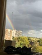 Een regenboog, op de dag dat je geboren werd <3